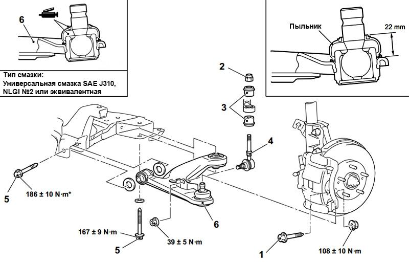схема подвески митсубиси аутлендер 1
